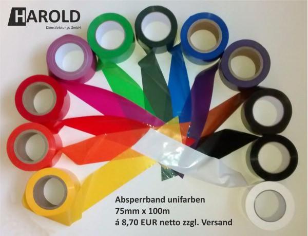 Absperrband bunt neutral farbig
